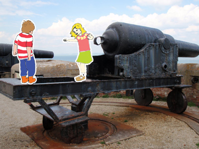 Jack and Boo go to Needles Battery by Philip Bell Copyright 2012 Beachy Books