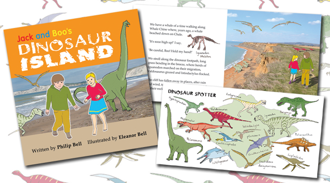 Jack and Boo's Dinosaur Island - Cover and inside shots