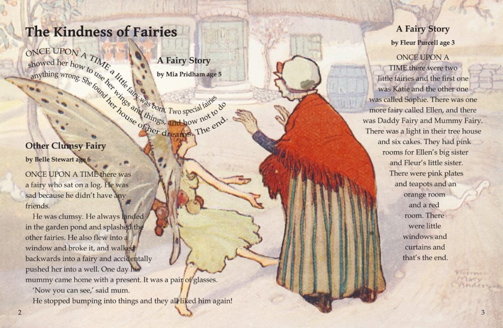 Fairyland Fairytales written by children - Interior Example Pages