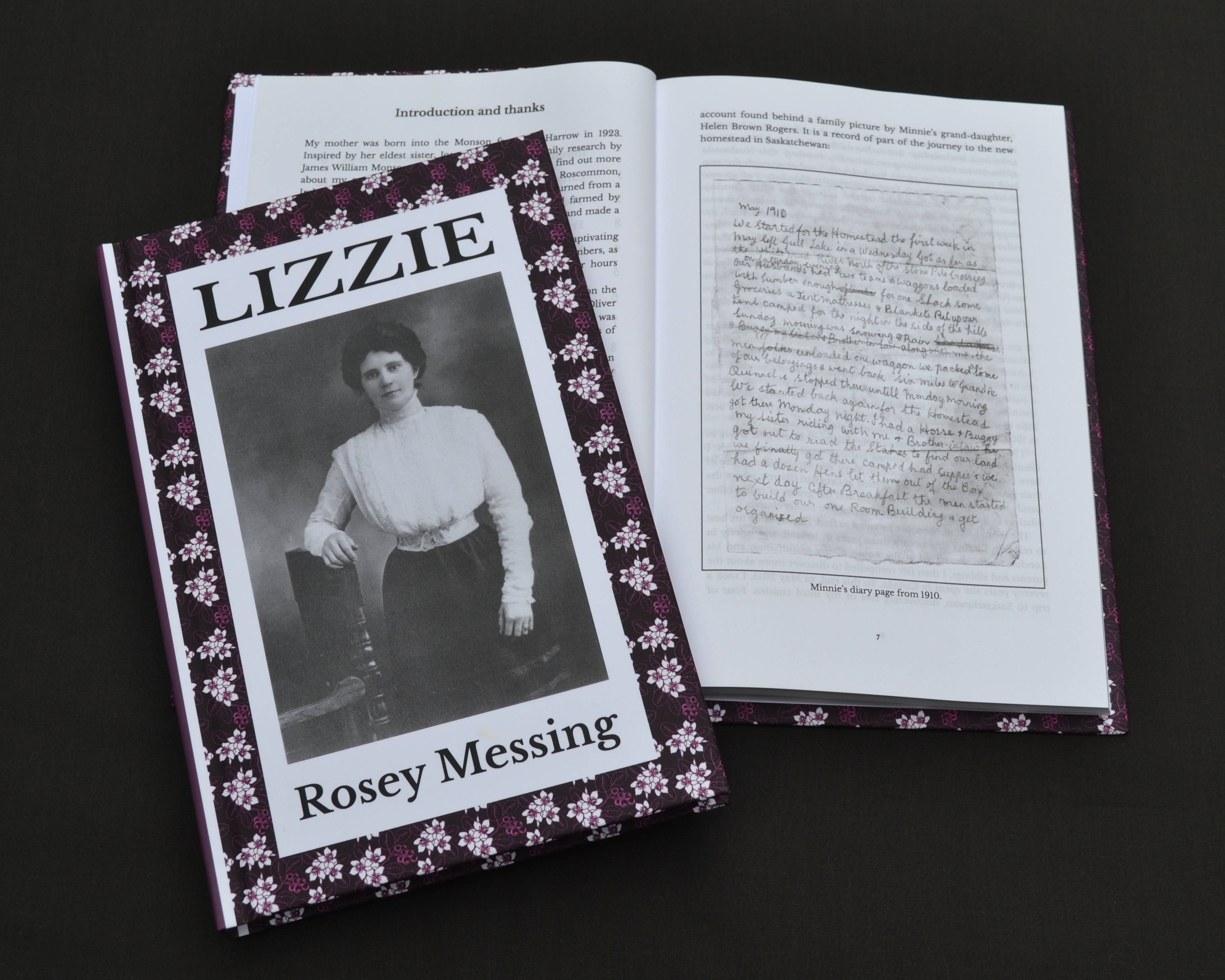 Lizzie by Rosey Messing - Published by Beachy Books - Book cover and Inside Example - Web