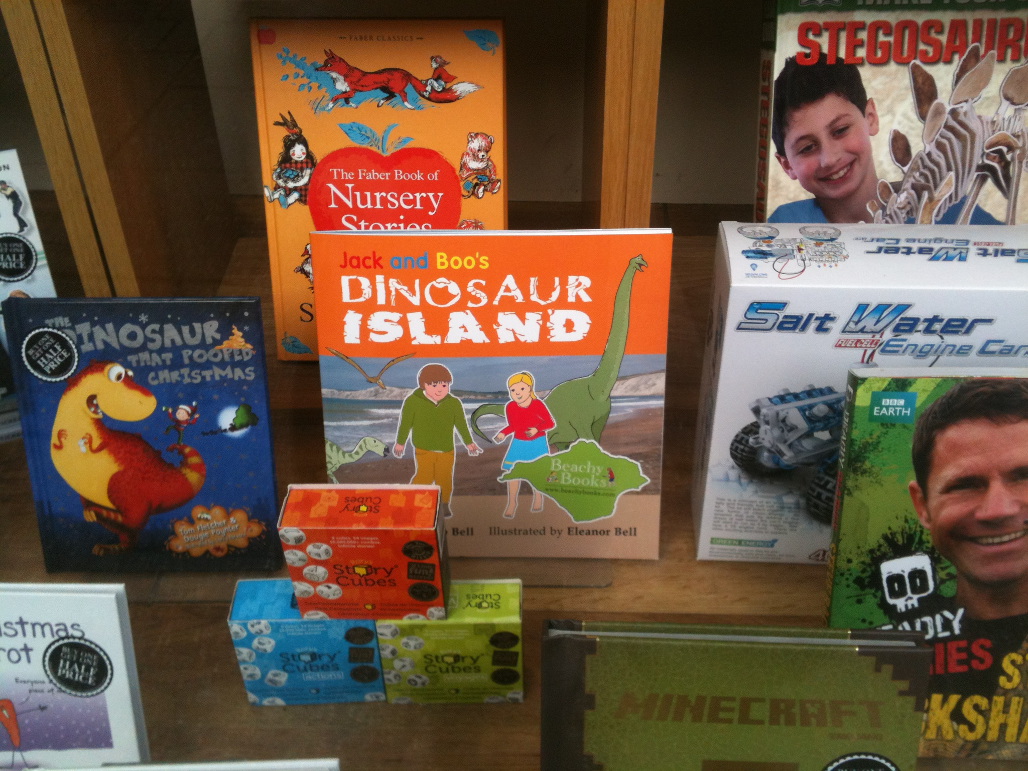 Jack and Boo's Dinosaur Island in Waterstones
